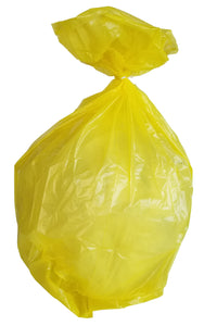 55 Gallon Garbage Bags: Yellow, 1.2 Mil, 38x58, 100 Bags.