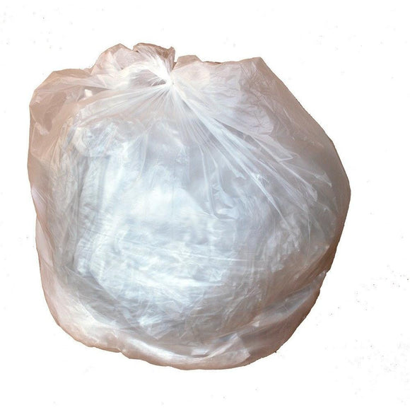 40-45 Gallon Garbage Bags: Clear, 12 Micron, 40x48, 100 Bags.