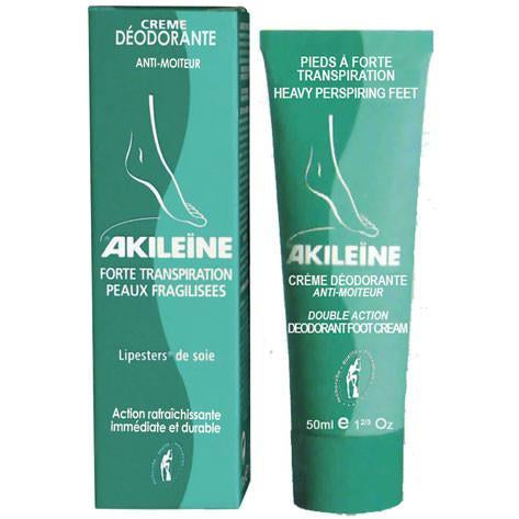 AKILEINE Double Action Deodorant Foot Cream 50ml - The Beauty Shoppers