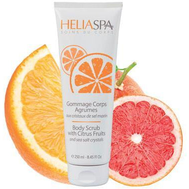 HELIABRINE Body Scrub with Citrus Fruits and Sea Salt Crystals 250ml - The Beauty Shoppers