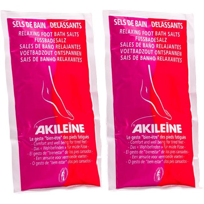 AKILEINE Foot Bath Salts 2x150g - The Beauty Shoppers