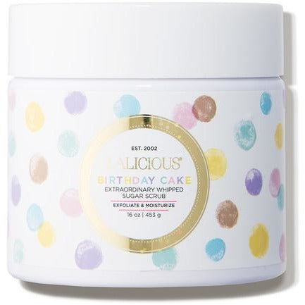 LALICIOUS Birthday Cake Sugar Scrub - The Beauty Shoppers
