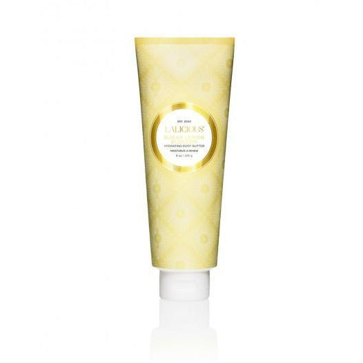 LALICIOUS Hydrating Body Butter Sugar Lemon Blossom 8oz/226g - The Beauty Shoppers