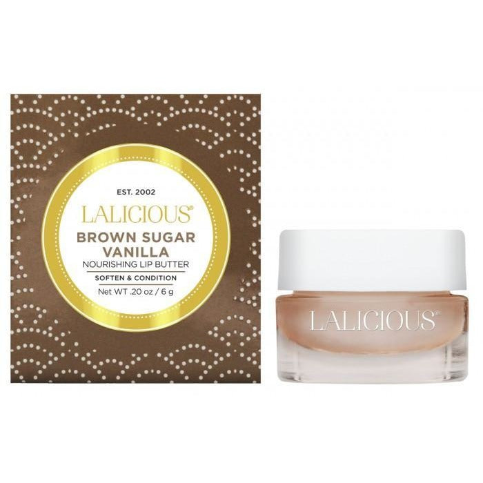 LALICIOUS Brown Sugar Vanilla Lip Butter 0.20oz/6g - The Beauty Shoppers