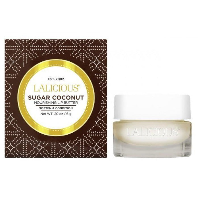 LALICIOUS Sugar Coconut Lip Butter 0.20oz/6g - The Beauty Shoppers