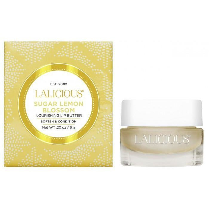 LALICIOUS Sugar Lemon Blossom Lip Butter 0.20oz/6g - The Beauty Shoppers