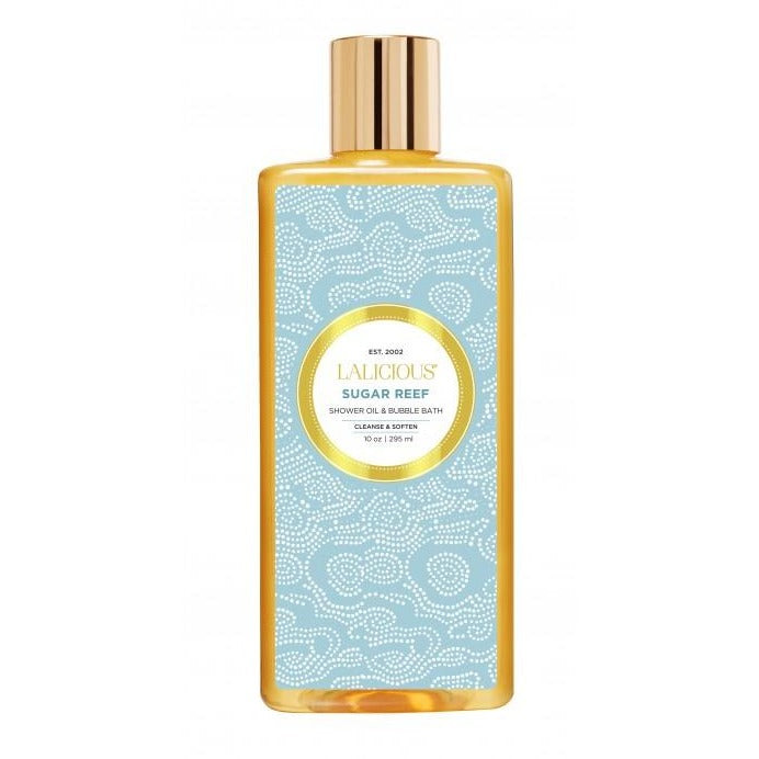 LALICIOUS Sugar Reef Shower Oil & Bubble Bath 10oz / 295ml - The Beauty Shoppers