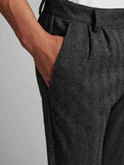 Akdolmo Pleat pants - DK Grey