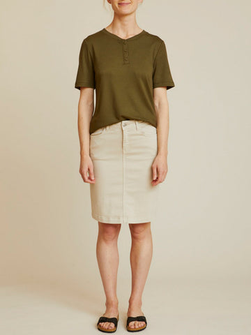 Eve denim skirt - khaki