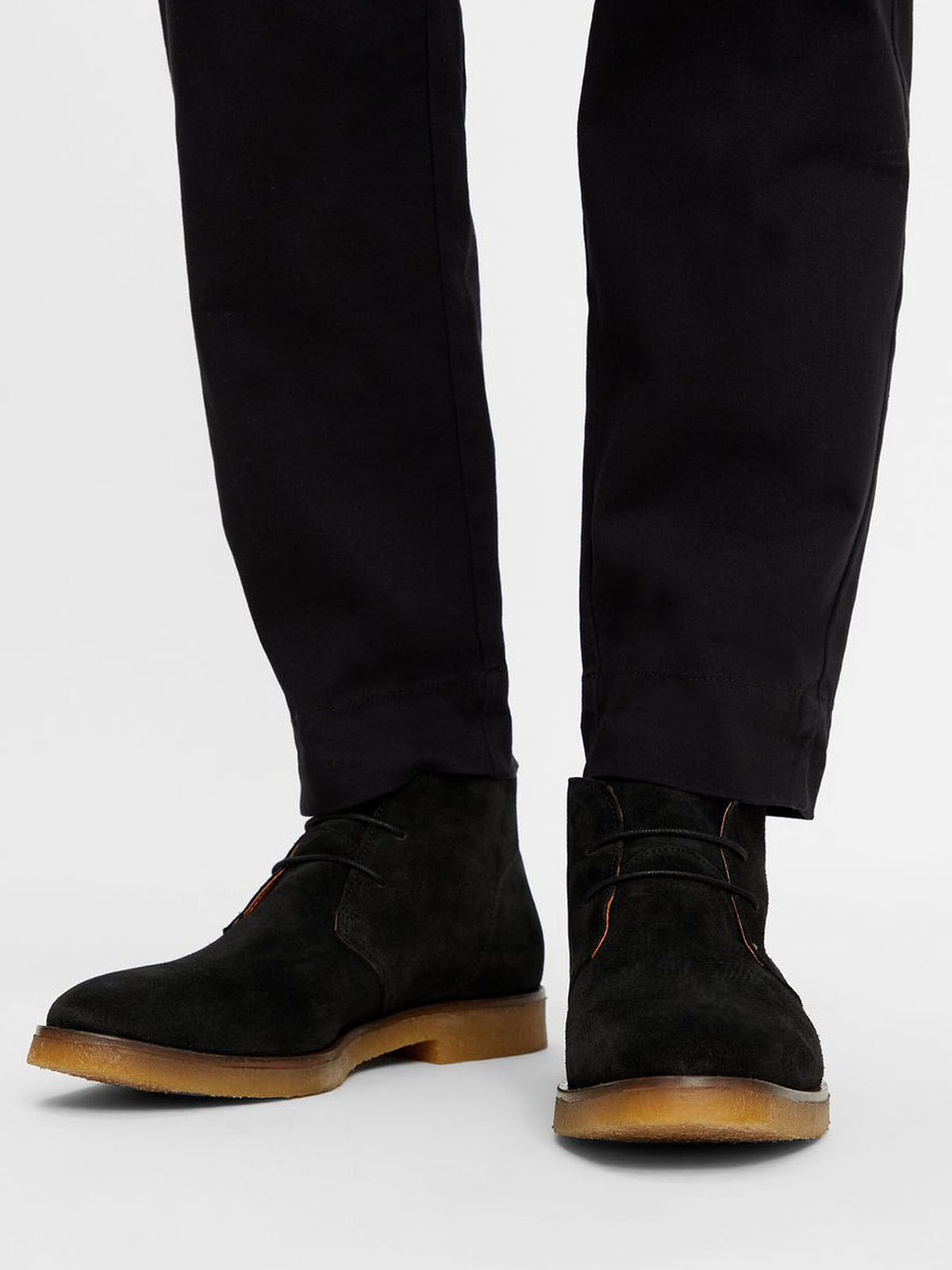 BIADINO Laced Up Boot - Black