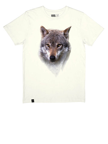 Stockholm Mountain Wolf T-shirt - Off White