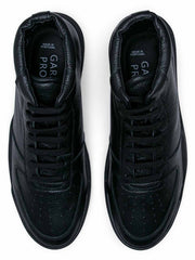 Mens High Top - Black Tumbled Leather - Revenge Utrecht