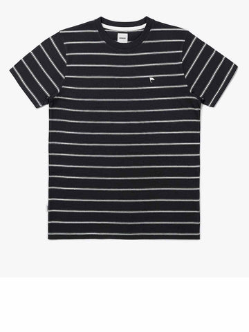 Warren Stripe Tee - Black-Sand Melange