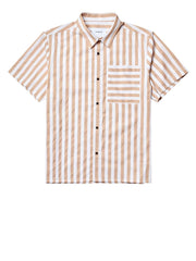 Zung Ho Stripe Shirt - Brown