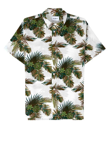 Calm Palm Shirt - White Green