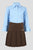 Girls pleated school skirt with diamante detail - Quality school uniforms at the School Clothing Company
