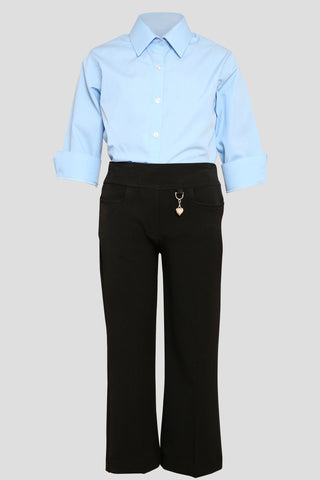 Girls school trousers with heart pendant detail - Quality school uniforms at the School Clothing Company