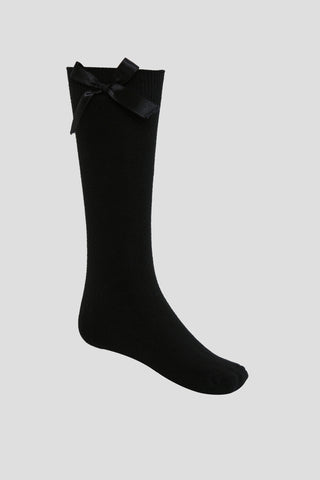 Girls school ankle socks with bow detail - Quality school uniforms at the School Clothing Company
