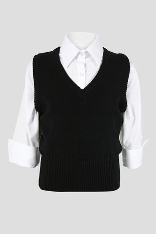 Girls school v-neck tank top - Quality school uniforms at the School Clothing Company