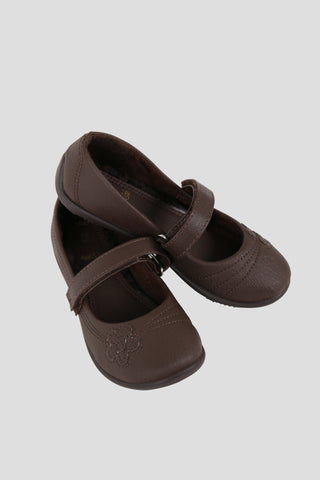 Girls brown school pump shoes - Quality school uniforms at the School Clothing Company