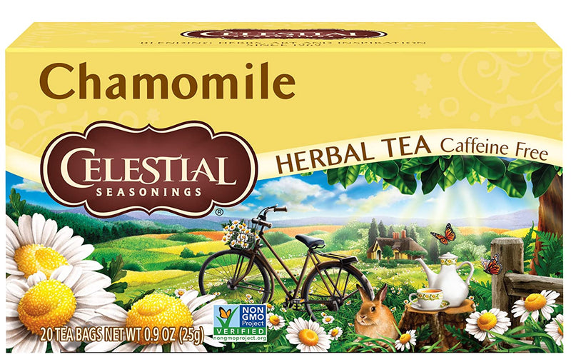 Celestial Seasonings Caffeine Gluten Free Natural Herbal Tea, Chamomile, 20 Count
