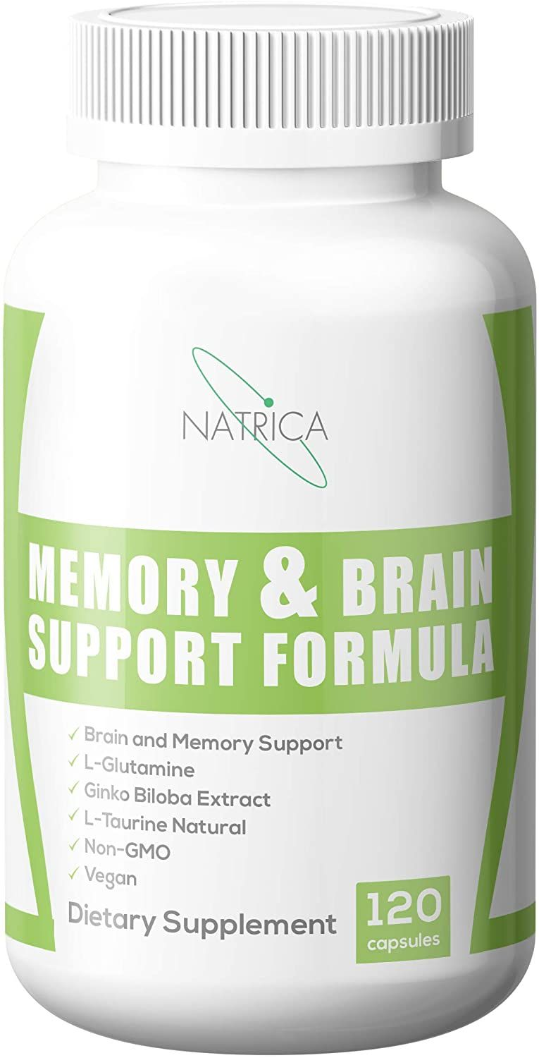 Natrica Non GMO, Memory and Brain Support Formula Dietary Supplement, 120 Capsules