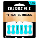 Duracell 675 Zinc Carbon Hearing Aid Batteries with Long Lasting Power, Ease of Installation, Pack of 6