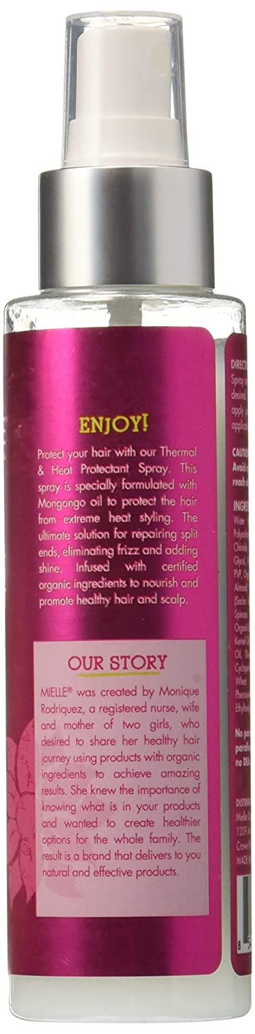 Mielle Organics Mongongo Oil Thermal and Heat Protectant Hair Treatment Spray, 4 oz.