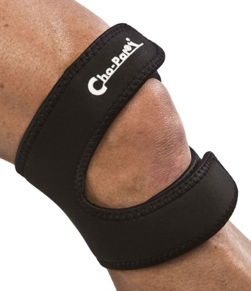 Cho-Pat Dual Action Knee Strap Provides Full Mobility and Pain Relief for Weakened Knees, Extra-Small: 10 Inches - 12 Inches, Black