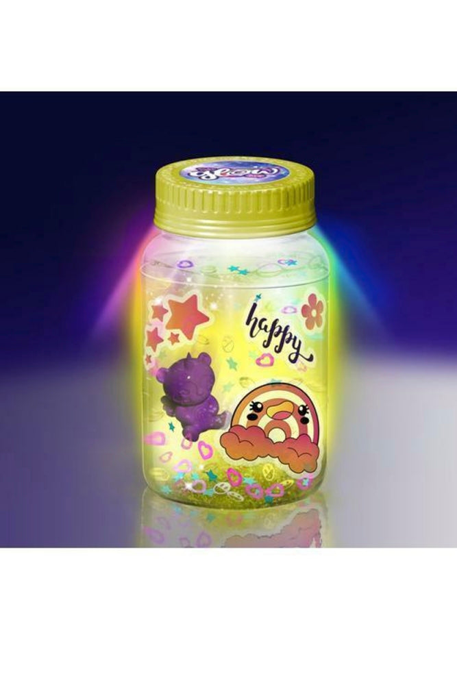 3-PACK Canal Toys So Glow Mini Jar Single Blister Card with 3 Surprise Toys, Assorted Colors