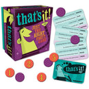 Gamewright That's It! Party Game, Draw a Topic Card and then Race to Shout Out Answers Until Someone Says the Exact Word Written, 10 Years and Up