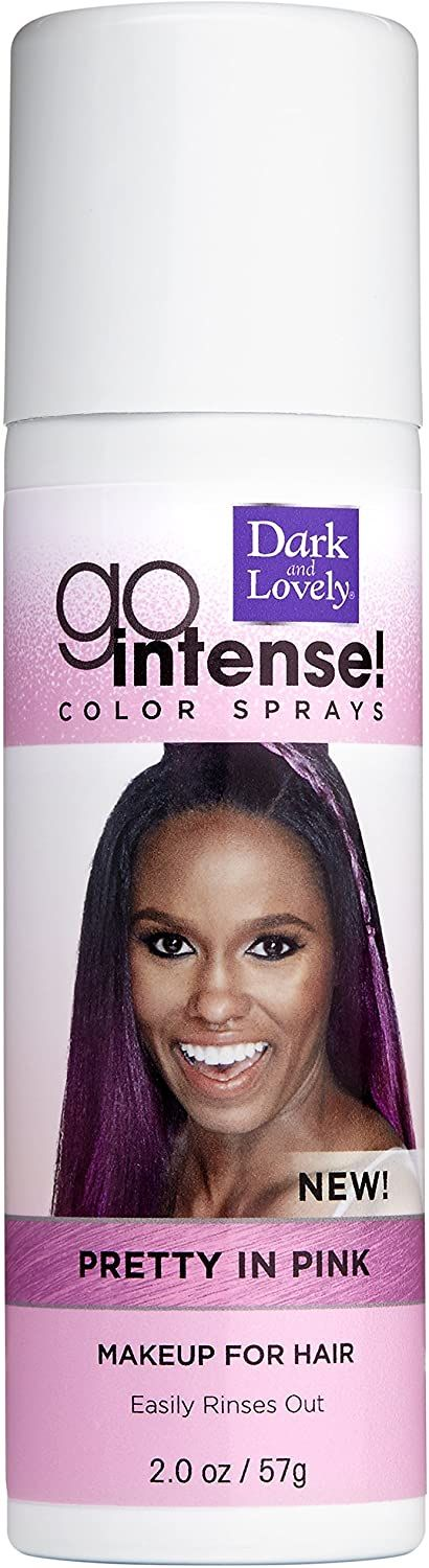 Dark and Lovely Soft Sheen Carson Go Intense Color Sprays, 2 Ounce, Pretty In Pink