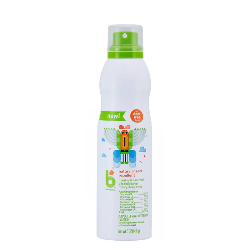 Babyganics Natural Insect Repellent Spray with Plant and Essential Oils, 5 Ounce