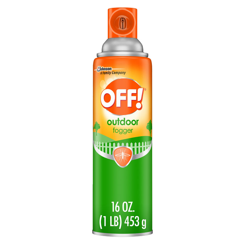 Off! Outdoor Insect Fogger, Repels Insects up to Six Hours, Covers an Area up to 30 Feet by 30 Feet, 16 Ounce, Orange