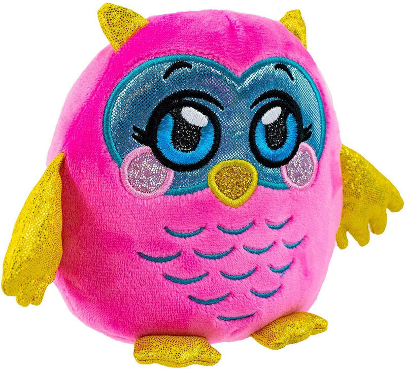 Mushmeez unique Ability Squeezy Squishy Soft Smashable Moldable Plush Stuffed Animal, Owl