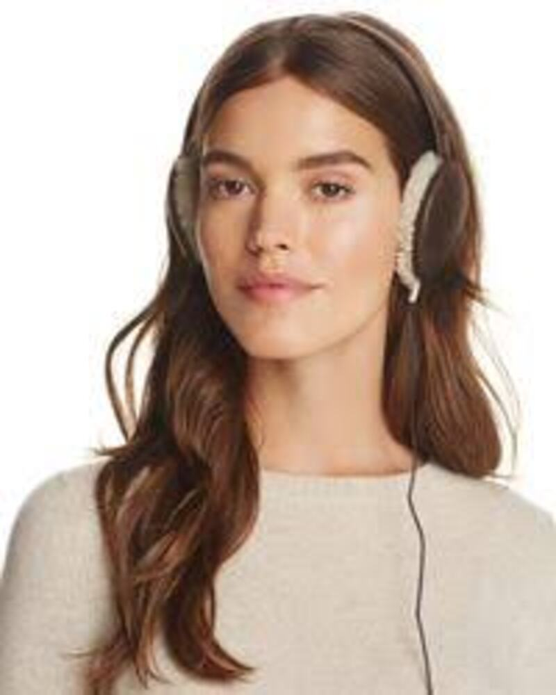 Ugg Shearling Trim Earmuffs