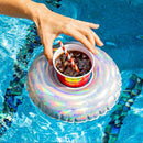 Holographic Color Changing Drink Floats for Swimming Pool, Durable PVC Material, Size: 9.5 Inch