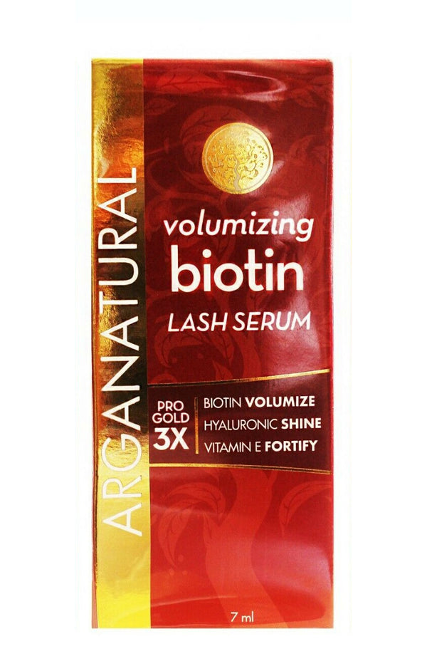Arganatural Brand U.S.A. Excellent Quality Volumizing Biotin Pro Gold 3X Lash Serum
