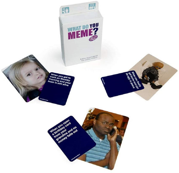 WHAT DO YOU MEME? On The Go! The Bite-Sized Travel Edition Card Game for Meme Lovers