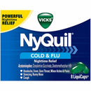 Nyquil Cold & Flu Nighttime Relief, Relieves Common Cold and Flu Symptoms Fast with 8 Liquicaps