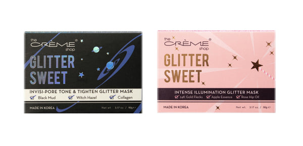 2-PACK (6.34 oz.) or 3-PACK (9.51 oz.) The Creme Shop Glitter Sweet Facial Skin Care Masks, Invisi-Pore Tone and Tighten Mask or Intense Illumination Mask