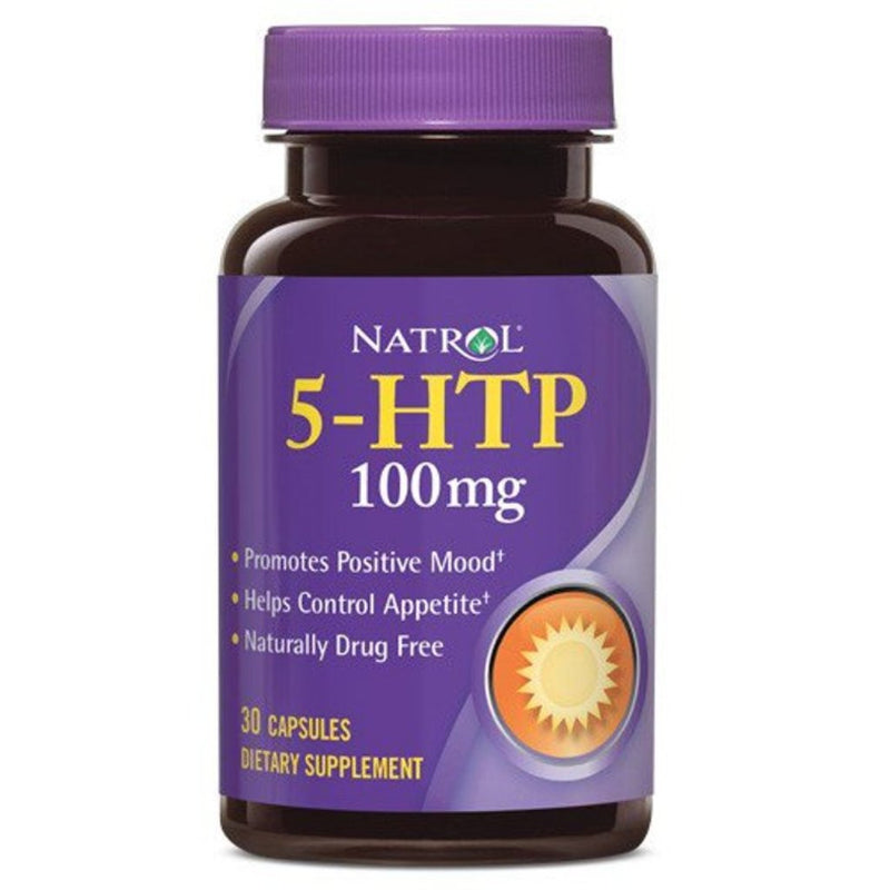 Natrol 5-HTP 50 Milligrams Mood and Stress Relief Capsules, Helps Promote Good Mood, 30 Units