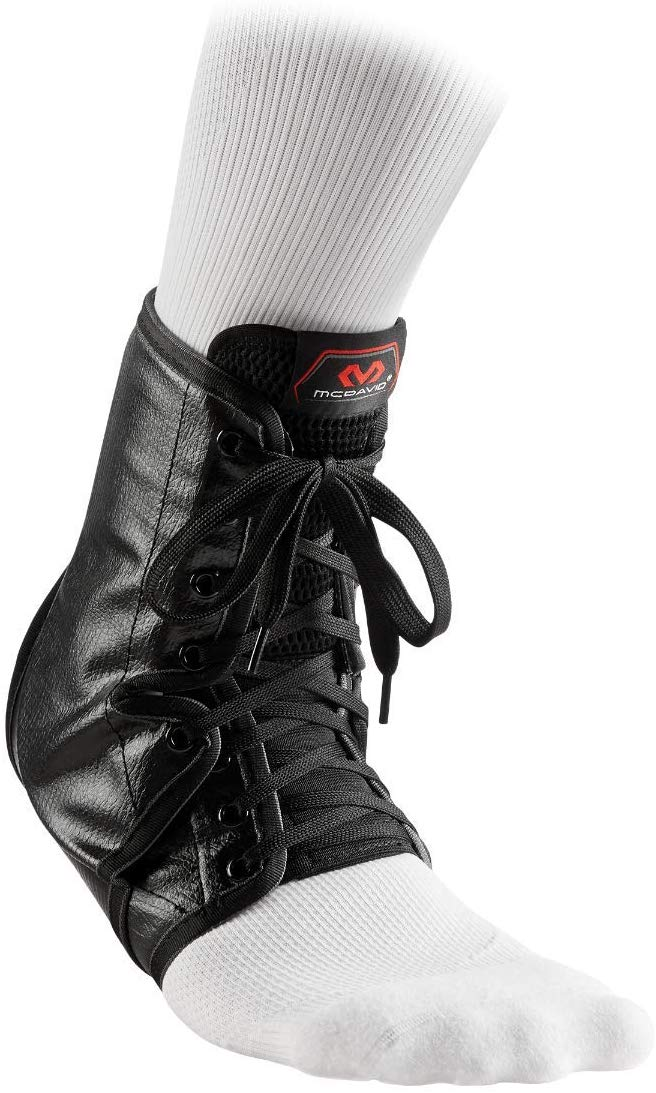 McDavid A101 Ankle Brace Lace-Up with Inserts For Maximum Ankle Support, Size: XX Small, Black