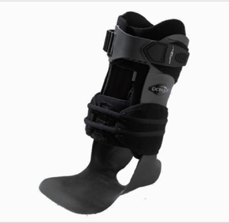 DJO Ankle Support MS, Wide Calf Cuff, Shoe Size Male: 8 to 9-1/2/Female: 10 to 11-1/2, Right Ankle, Medium, Black