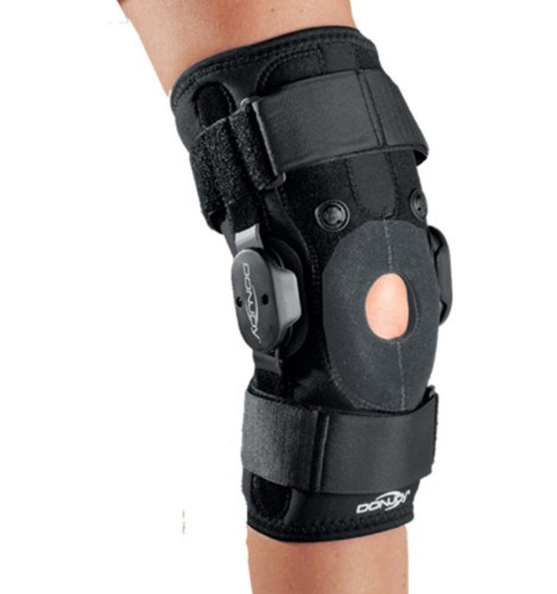 DonJoy Drytex Hinged Air Knee Brace, Designed to Treat and Ease Pain Associated with Patellofemoral Malalignment, Chondromalacia etc., X-Small, Black