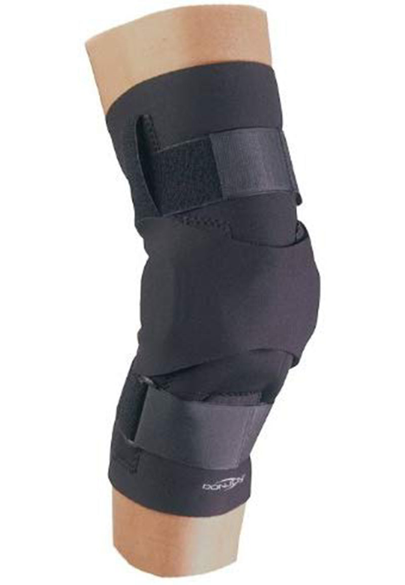 DonJoy Hinged H Buttress for Knee, Provides Compressive Inferior and Medial/Lateral Patellar Support, Extra Large, Black