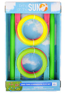 Bring On The Sun Outdoor Combo 2-in-1 Ringtoss and Horseshoe Game Playset, 10 Pieces