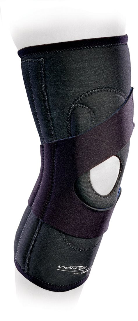 Donjoy Lateral J Patella Brace for Right Knee with Neoprene Compression, X-Large: 60-67 Centimeters