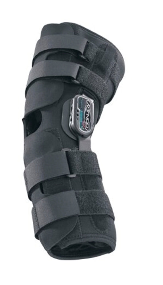 Donjoy Drytex Playmaker Open-Patella Wraparound Left/Right Knee Brace, X-Small, Black