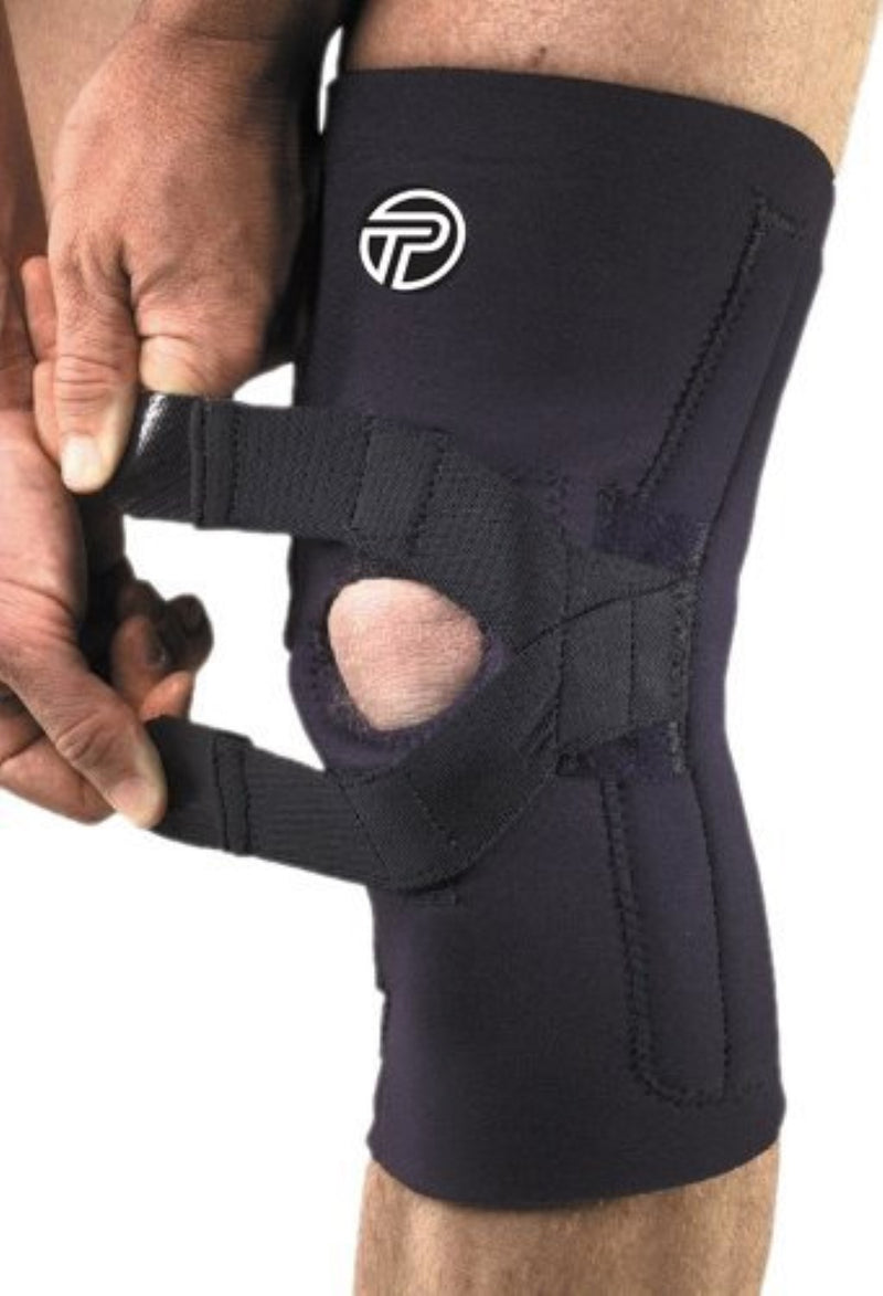 Pro-Tec J-Lateral Knee Support, Medium: 14.5 Inches -16 Inches, Fits Right Knee, Black